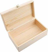 Wooden Box with Lid Storage Case Organize Storage