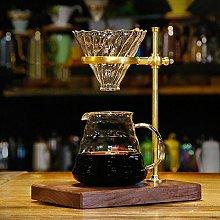 Wooden Brass Coffee Filter Holder Coffee Filter