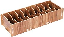 Wooden Business Cards Holder Stand with Dividers
