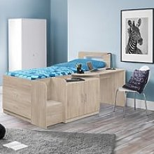 Wooden  Cabin Bed Frame 3ft Single Cookie Oak