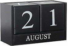 Wooden calendar desk decoration