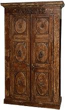 Wooden case/cabinet with antique doors
