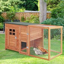 Wooden Chicken Hen Coop Poultry House with Nest