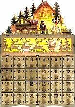Wooden Christmas Advent Calendar, Snowman Wooden