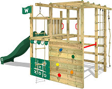 Wooden climbing frame Smart Champ with green