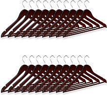 Wooden Coat Hanger Set, Pack of 20 Clothes Hangers