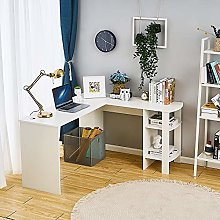 Wooden Computer Desk L Shaped Corner Workstation