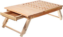 Wooden Computer Desk Portable Lapdesk Table Bed
