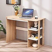 Wooden Computer Desk with 3 Open Shelves PC Laptop