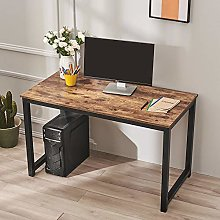 Wooden Computer Desk with Metal Frame PC Writing