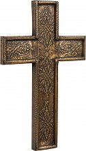 Wooden Cross L26xPR3xH40 cm, Wall decoration with