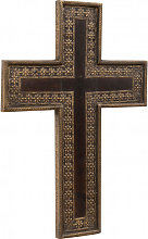 Wooden Cross L35xPR3xH51 cm, Wall decoration with