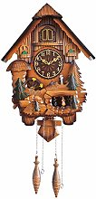 Wooden Cuckoo Clock, Traditional Black Forest
