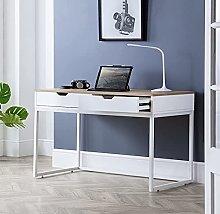 Wooden Desk, California Oak and White Modern