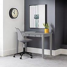 Wooden Desk, Carrington White, Black or Grey