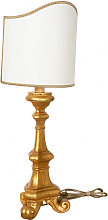 WOODEN DESK GOLD LARGE LAMP MADE IN ITALY
