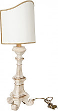 WOODEN DESK LAMP WHITE LARGE MADE IN ITALY