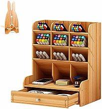 Wooden Desk Organiser Desk Wooden Pen Holder