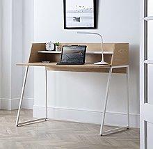 Wooden Desk, Palmer Oak and White Modern Wooden