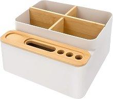 Wooden Desk Storage Box, Detachable Multipurpose
