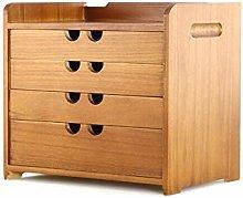 Wooden Desk Storage Drawer Debris Cosmetic Tool