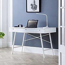 Wooden Desk, Trianon Grey or White Modern Wooden