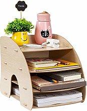 Wooden Desktop Organiser Desk File Organiser