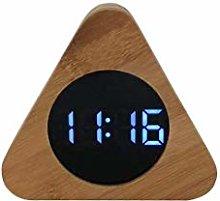 Wooden Digital Alarm Clock, Nordic Style Real Wood