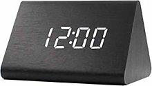 Wooden Digital Alarm Clock Triangle, Nordic Style
