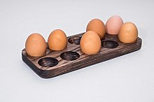 Wooden Egg Holder. Personalized Wood Egg Holder.