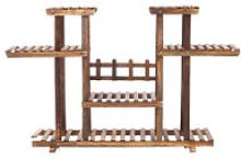 Wooden Flower Shelf Holder Without pulley 6 Tier