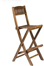 Wooden Folding Bar Chair with Intergrated Footrest