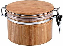 Wooden Food Storage Container Canister Jar with