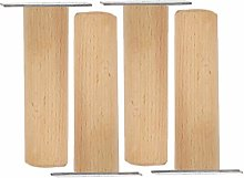 Wooden Furniture Legs,4 Pcs Bed Legs,Smooth