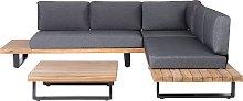 Wooden Garden Corner Set Sofa Coffee Table Acacia