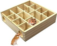 Wooden Hamster Maze Fun Hamster Tunnel Toys Small