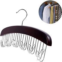 Wooden Hanging Organizer for Closet Accessories