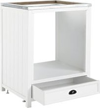 Wooden Kitchen Base Unit for Oven in White W70