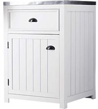 Wooden kitchen base unit in white, right-opening W