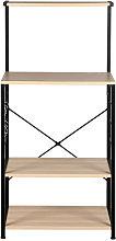 Wooden Kitchen Shelf , Baker's Rack 4 Tier