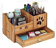 Wooden Multifunctional DIY Desk Tidy Stationery