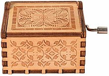 Wooden Music Box Creative DIY Music Box Carved