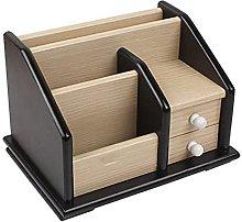 Wooden Office Stationery Desk Tidy Organiser, Desk