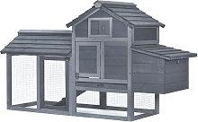 Wooden Outdoor Chicken Coop Hen House w/ Nesting
