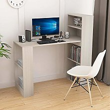 Wooden PC Desk with Shelves Computer Desk with