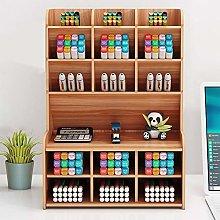 Wooden Pen Holder Storage Box Desk Organizer