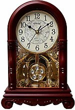 Wooden Pendulum Mantle Mantel Quartz Battery Clock