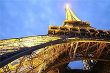 Wooden Puzzle Puzzle Eiffel Tower Lighting Adult