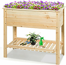 Wooden Raised Garden Bed Elevated Planter Stand