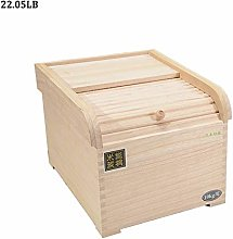 Wooden Rice Container Storage Sealed Kitchen Food
